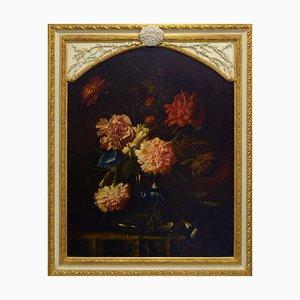 Bodegón con flores, siglo XVII, óleo sobre lienzo