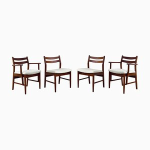 Mid-Century Danish Style Teak Dining Chairs, Set of 4