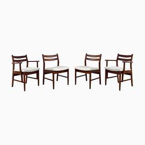 Mid-Century Esszimmerstühle aus Teak im dänischen Stil, 4er Set
