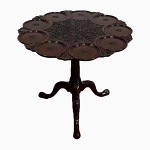 Large English Mahogany Pedestal, 19th Century
