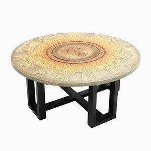 Aztec Sunburst Coffee Table by DK, 1970s