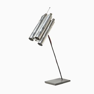 German Aluminium Tu-Be Two Table Lamp by Ingo Maurer, 1980s