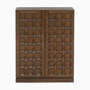 Cabinet with Graphic Door Panels from Defour, Belgium, 1970s