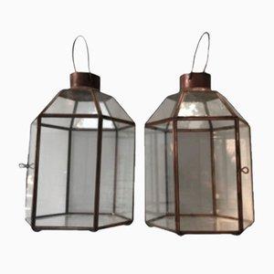 Tischlampen aus Messing & Kristallglas, 2er Set
