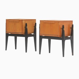 Nightstands Attributed to Alfred Hendrickx, 1950s, Set of 2