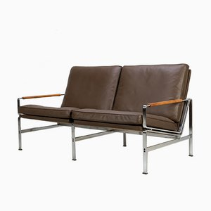 Leather FK 6720 Two-Seater Sofa by Fabricius & Kastholm for Kill International, 1960s
