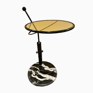 Marble and Glass Serving Trolley from Artedi, Italy, 1980s
