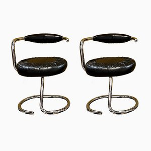 Cobra Chairs by Giotto Stoppino, Italy, 1970s, Set of 2