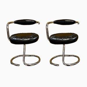 Cobra Stühle von Giotto Stoppino, Italien, 1970er, 2er Set