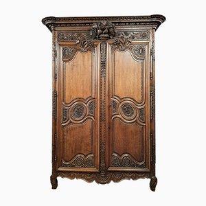 Louis XV Normande Wedding Cabinet in Blond Oak