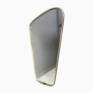Gold Framed Free Form Mirror, 1950s