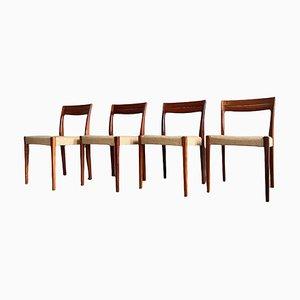 Palisander Esszimmerstühle von Svegards Markaryd, 4er Set