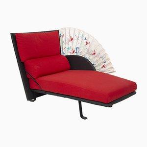 Chaise longue Le Mirande de cuero y algodón de Paolo Nava para Flexiform