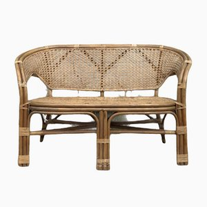 Mid-Century Danish Bamboo Sofa by Viggo Boesen