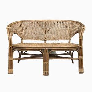 Sofá danés Mid-Century de bambú de Viggo Boesen