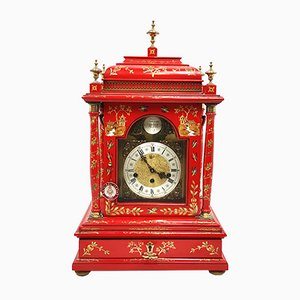Tempus Fugit Table Clock with Rope Winding and Music Box