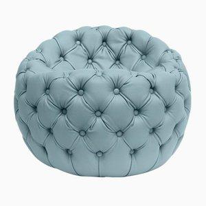 Puf Dot tapizado en azul claro de Claudio Cappellini para Hessentia
