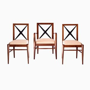 Ulmenholz Stühle von Tomaso Buzzi, 1930er, 3er Set