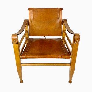 Leather Safari Chair by Aage Bruun & Son, Denmark, 1960s