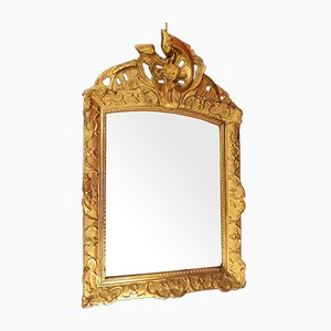 Regency Giltwood Mirror with Floral Carvings, 18th Century