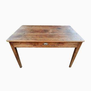 Antique French Farmer's Kitchen Table in Walnut