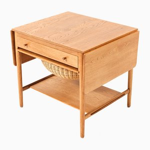 Mid-Century Modern AT-33 Sewing Table by Hans J. Wegner for Andreas Tuck, 1950s
