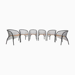 Lizie Dining Chairs by Regis Protiere for Pallucco, Italy, 1984, Set of 6