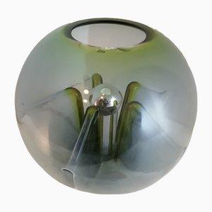 Lámpara de mesa Nuphar de vidrio verde de Toni Zuccheri para VeArt, Italy, años 70