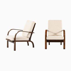 Modell FH-7 Sessel von Ernst Heilmann-Sevaldsen für Fritz Hansen, 2er Set