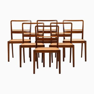 Dining Chairs by Erik Chambert, Norrköping, Set of 6