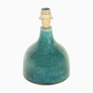 Lamp in Blue Craquele Ceramic, France, 1970s