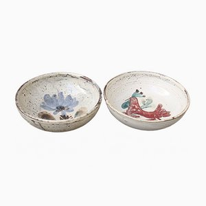 Small Mid-Century Ceramic Bowls by Le Mûrier, 1960s, Set of 2