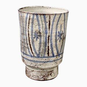 Macetero francés pequeño de cerámica de Le Mûrier, años 60