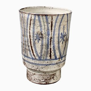 Small French Ceramic Cache Pot by Le Mûrier, 1960s