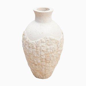 Large Decorative Mactan Stone Floor Vase, 1980s