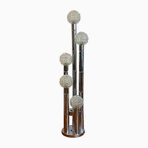 Stehlampe aus Chrom, 1980er