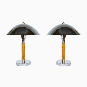 Dome Lamps, Set of 2