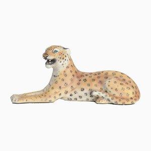 Kleine Porzellan Leopard Skulptur, Italien