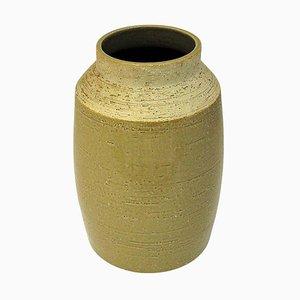 Large Beige Ceramic Vase by Hertha Bengtsson for Rörstrand, Sweden, 1950s