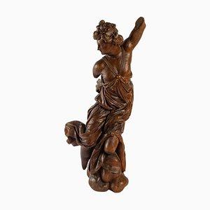 Skulptur aus geschnitztem Holz, 19. Jh