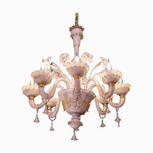 Lámpara de araña veneciana de vidrio, siglo XX