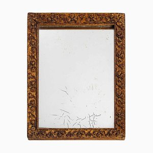 Small Wood and Stucco Mirror