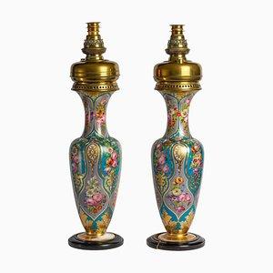 Baccarat Vasen aus Opalglas, 2er Set