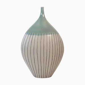 Jarrón estilo minimalista grande de cerámica, años 60