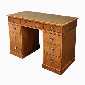 Edwardianischer Schreibtisch aus Nussholz