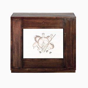 Armoire de Bar Suspendue et Eclairée par Pietro Chiesa pour Fontana Arte