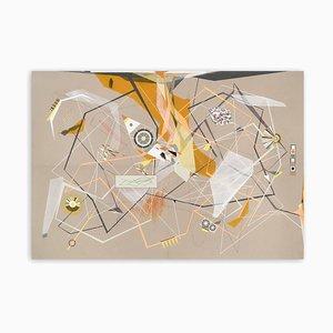 Dannielle Tegeder, Linear Momentum and Collisions, 2018, Gouache, Tinta, Lápiz de colores, Grafito y Pastel sobre Papel Fabriano Murillo