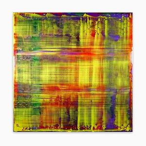 Danny Giesbers, Gerhard Richter, 2020, Acrylics, Resin & amp; Phosphoreszenz auf Holzbrett