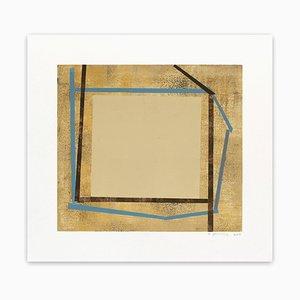 Elizabeth Gourlay, Blue Bistro Ash 1, 2013, Monotype en papel