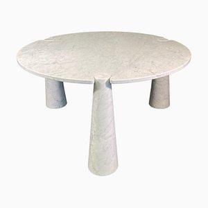 Mesa de comedor de mármol de Carrara de Angelo Mangiarotti para Skipper